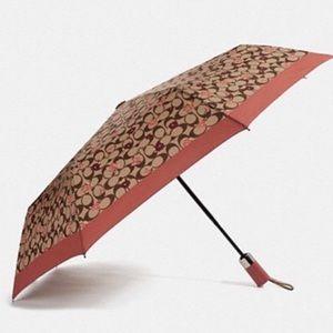 Coach Signature Tossed Peony Umbrella LARGE